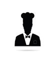 man chief icon black vector image