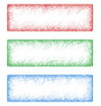 Red green and blue sketch banners vector image