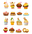 set cupcake vector image