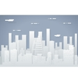 Paper Silhouette Seamless Urban Landscape City vector image vector image