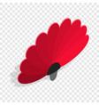 red fan isometric icon vector image