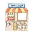 icon market vector image vector image