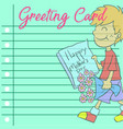 art greeting card mother day vector image