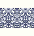 Seamless damask pattern blue and ivory image vector image