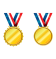 Gold medals vector image