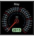 2015 year calendar speedometer car in  May vector image vector image