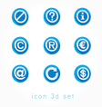 set of icons 3d vector image vector image