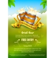 Oktoberfest celebration background vector image vector image