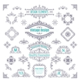 Set of Vintage Line Art Calligraphic vector image vector image