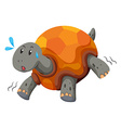 Cute turtle running with swet vector image vector image