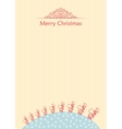 Merry christmas ball background doodle vector image