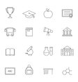 School education outline icons vol 3 vector image