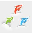 New labels Arrow design elements vector image vector image