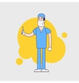 character of surgeon in medical uniform vector image