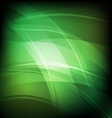 Abstract background with green line wave vector image