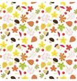 Bright autumn seamless pattern Natural colors vector image