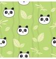 Cute pandas seamless pattern vector image
