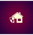house shield icon vector image