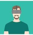 men wear using oculus graphic vector image