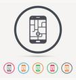 smartphone device icon go symbol vector image