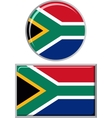 South African round and square icon flag vector image