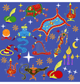 Fairytale Aladdin story theme elements vector image