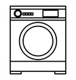 washer machine isolated icon vector image