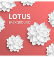 abstract floral background with paper lotus vector image
