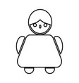 old woman black color icon vector image