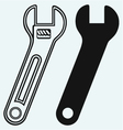 Adjustable wrench vector image