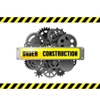 Under construction web page warning vector image vector image