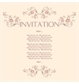 Beautiful Invitation card with pattern of peacock vector image