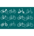 Set of different types bicycles vector image