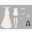 wedding clothes vector image vector image