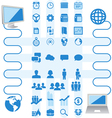 Package of Icons business and computer vector image