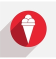 modern ice cream red circle icon vector image vector image