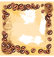coffee beans frame vector image