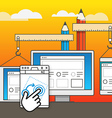 Web site constructor Web design concept vector image