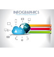 Cloud Computing Infographic concept background vector image