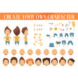 creation of character boy set vector image