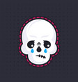 crying skull emoji vector image