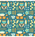 decorative seamless background with flowers vector image
