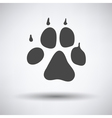 Dog trail icon vector image
