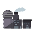 industry manufactory plant building shadow vector image
