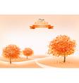 Landscape autumn background vector image