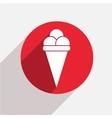 modern ice cream red circle icon vector image