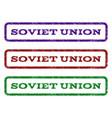 soviet union watermark stamp vector image