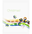 Christmas and New Year business wave template vector image vector image