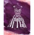 Poster wedding dress violet vector image