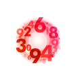 abstract circle numbers red vector image vector image